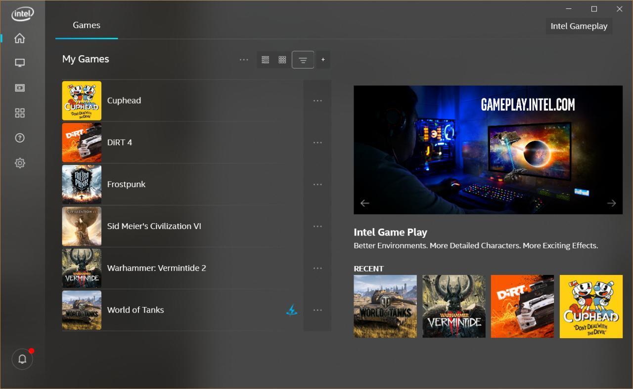 英特尔推出其首个XBox游戏栏小部件以及最新的图形命令中心更新