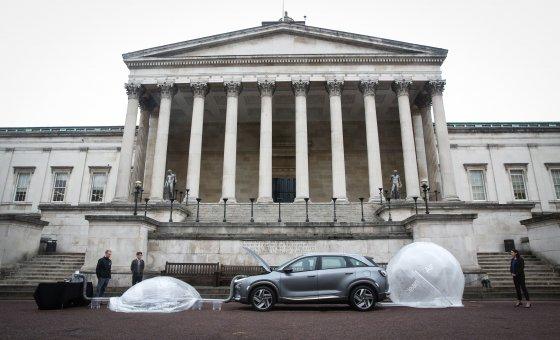 """伦敦市中心的氢车""""nexon"""" 1小时开车后进行空气净化测试"""