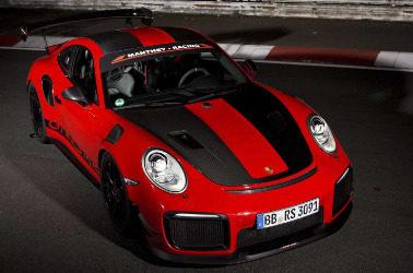 保时捷911 GT2 RS  MR在返回纽伯格林期间发现